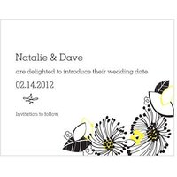 Floral Fusion Save The Date Card