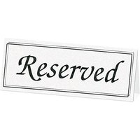 White Table Reserve Cards