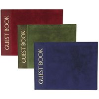 Luxury Cover with Gold Foil Print Guest Book - Burgundy