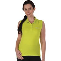 Fatima Sleeveless Polo Shirt Lime Punch