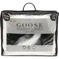 Light weight white natural comfort Goose Feather and Down 4.5 tog summer duvet  - White