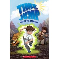 Popcorn ELT Primary Readers Level 2: Time Jump: Back to the Stone Age (Book and CD)