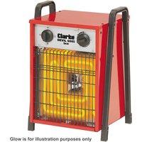 400 Volt, 3 Phase Clarke Devil 6005 5kW Industrial Electric Fan Heater