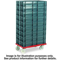 Barton Storage Barton Storage 88880-01PP/6417 Euro Container Dolly With 7 x 30ltr Containers