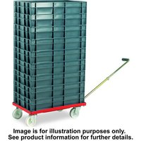 Barton Storage Barton Storage 88880-01WH/6417 Euro Container Dolly With Handle & 7 x 30ltr Containers