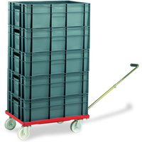 Barton Storage Barton Storage 88880-01WH/6420 Euro Container Dolly With Handle & 5 x 40ltr Containers
