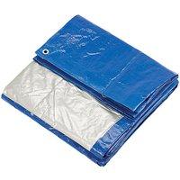 Clarke Clarke 8ft x 10ft (Approx) Blue & Silver Polyethylene Tarpaulin