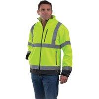 Dickies Dickies Hi-Vis Two Tone Soft Shell Jacket (Yellow/Navy) - Large