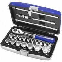 Machine Mart Xtra Britool Expert 22 Piece 1/2 Drive Metric Socket Set