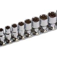 Machine Mart Xtra Laser 3592 13 piece 1/4 Drive Alldrive Socket Set 4-14mm