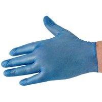 National Abrasives Box Of 100 Blue Vinyl Non Sterile Lightly Powdered Disposable Gloves (XL)