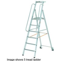 Machine Mart Xtra Zarges Mobile Masterstep 8 Tread with Handrails