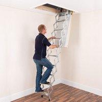 Machine Mart Xtra Alufix 2.4m Concertina Loft Ladder