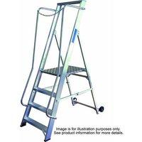Machine Mart Xtra Lyte BSWP4 4 Tread Aluminium Wide Steps