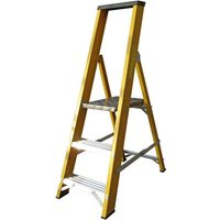 Machine Mart Xtra Lyte GFBP3 3 Tread Glassfibre Platform Ladder