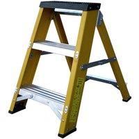 Lyte Ladders Lyte GFBB3 3 Tread Glassfibre Swingback Step Ladder