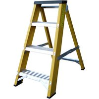 Lyte Ladders Lyte GFBB4 4 Tread Glassfibre Swingback Step Ladder