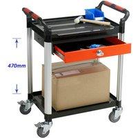 Barton Storage Barton Storage WHTT2SS/D1 2 Shelf Trolley With 1 Drawer & 2 Keys