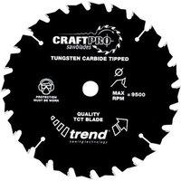 Trend Trend CSB16524T - 24T CraftPro Saw Blade 165mm