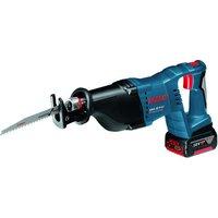 Machine Mart Xtra Bosch GSA 18 V-LI Professional Cordless Sabre Saw, 2 x 4Ah Batteries & LBOXX