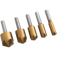 Machine Mart 5 Piece Titanium Coated Countersink Bit Set