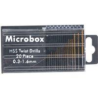 Machine Mart Microbox 20 Piece Micro HSS Twist Drill Set