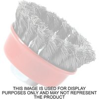National Abrasives National Abrasives 90mm Twisted Knot Cup Brush - M14