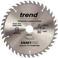 Trend Trend CSB/23040 Craft Saw Blade 230x30mm 40T