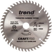 Trend Trend CSB/16048 Craft Saw Blade 160x20mm 48T