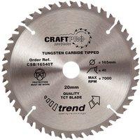 Trend Trend CSB/16540T Craft Saw Blade 165x20mm 40T