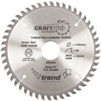 Trend Trend CSB/16548 Craft Saw Blade 165x20mm 48T