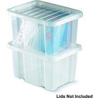 Machine Mart Xtra Topstore 012450/WOL/10 TopBox 24 Litre Containers without Lids (10 Pack)