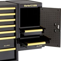 Clarke Clarke SL26BGB 2 Drawer Side Locker (Black & Gold)