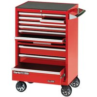 Clarke Clarke CBB211DF 26 11 Drawer Mobile Cabinet with Front Cover - Red