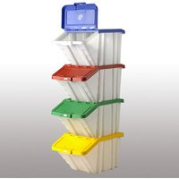Machine Mart Xtra Barton Topstore Multi-Functional Containers with Mixed Colour Lids