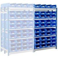 Machine Mart Xtra Barton Toprax Double Extension Bay with 80 TC4 Bins & 10 Shelves