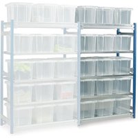 Barton Storage Barton Toprax Standard Extension Shelving Bay with 15 x 24 ltr Containers