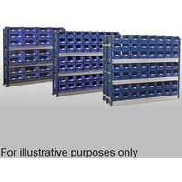 Barton Storage Barton Toprax Longspan Standard Initial Bay with 72 TC4 Bins & 4 Shelves