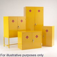 Machine Mart Xtra Barton Hazardous Substance Cabinet with 2 Shelves