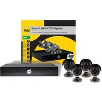 Machine Mart Xtra Yale SCH-804A Easy Fit 960H CCTV System - 4 Cameras