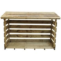 New Forest 129x183x88cm Large Woodstore