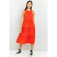 Pins & Needles Tiered Layer Sleeveless Dress, Red