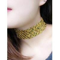 Fish Scales Sequins Elasticity Choker