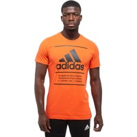 adidas 3 Lines BOS T-Shirt - Only at JD - Orange/Black - Mens, Orange/Black
