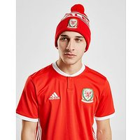 Official Team Wales Text Knitted Bobble Hat - Red - Mens