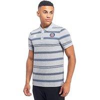 Canterbury Bath Rugby Stripe Polo Shirt - Grey - Mens