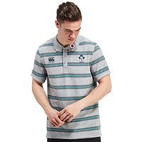 Canterbury Ireland RFU Stripe Polo Shirt - Grey - Mens