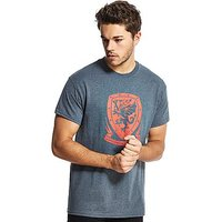 Official Team Wales Crest T-Shirt - Dark Grey - Mens