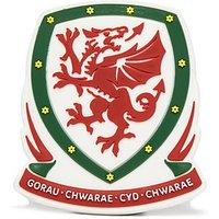 Official Team Wales 3D Crest Magnet - Red/White - Mens