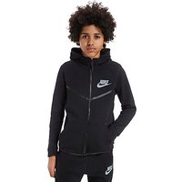 Nike Tech Windrunner Hoody Junior - Black/Cool Blue - Kids